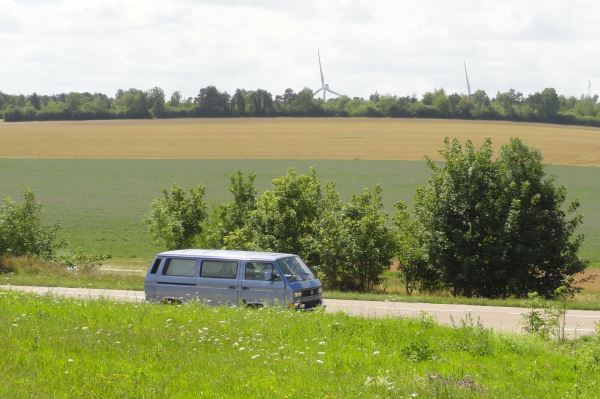 Camino a Barbençon. Mi bólido. Foto R.Puig