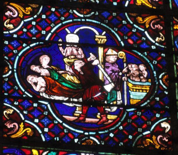 Catedral de Troyes. La leyenda de San Nicolás. Foto R.Puig