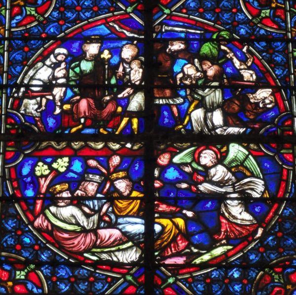 Catedral de Troyes. La matanza de los inocentes y el sueño de los Reyes Magos. Foto R.Puig