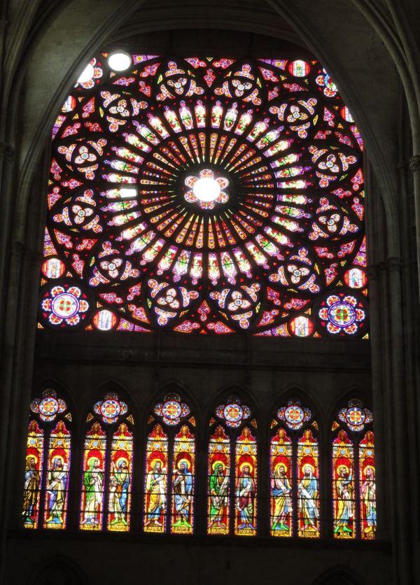 Catedral de Troyes. Rosetón del Pórtico Norte. Foto R.Puig