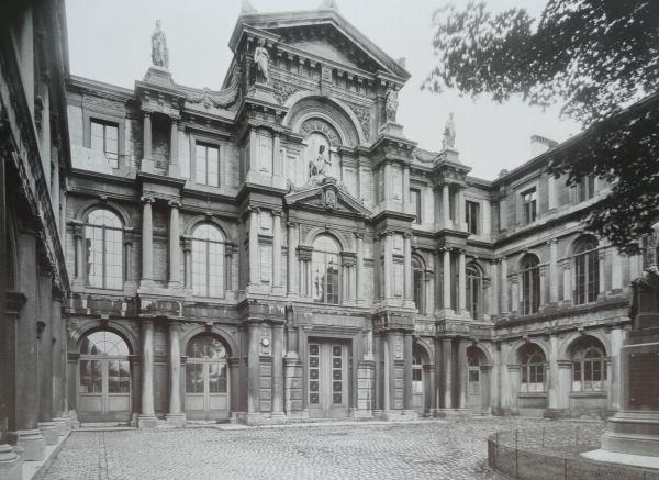 Palacio Granvela. Bruselas. Foto Theodor von Lüpke. 1918.