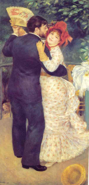 Renoir. Danza pueblerina; 1881. París. Museo de Orsay