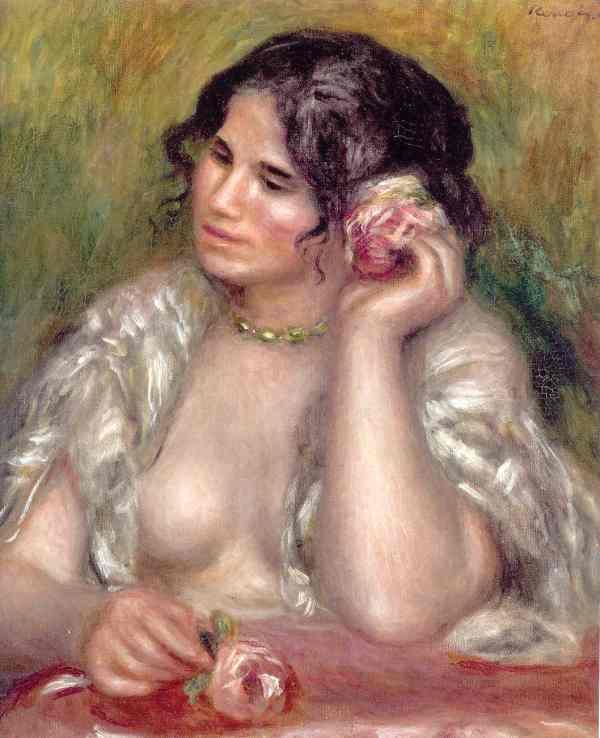 Renoir. Gabrielle con una rosa. 1911. París. Museo de la Orangerie
