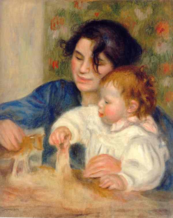 Renoir. Gabrielle y Jean. 1895 y 96. París. Museo de la Orangerie