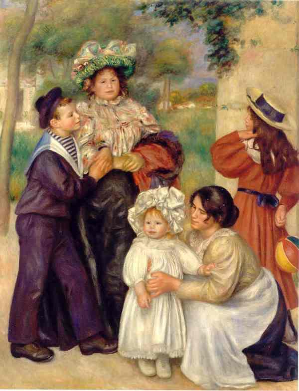 Renoir. La familia del artista. 1896. Barnes Foundation. Filadelfia