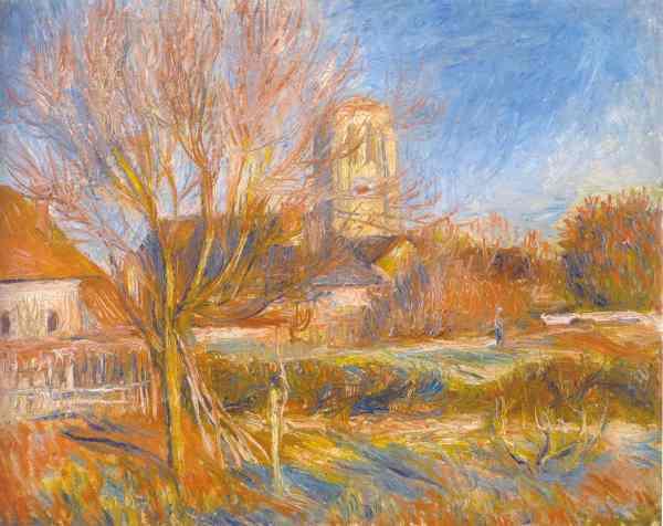 Renoir. La iglesia de Essoyes. 1888. Colección particular