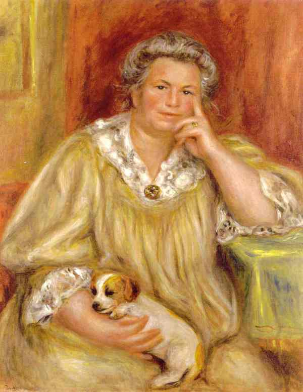 Renoir. Madame Renoir con Bob. 1910.Museo de Hartford USA.