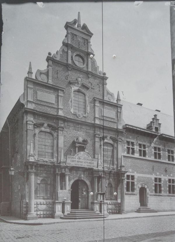 Sede del Comité de Socorro Alimentario en Gante. Foto anónima. 1917-18.