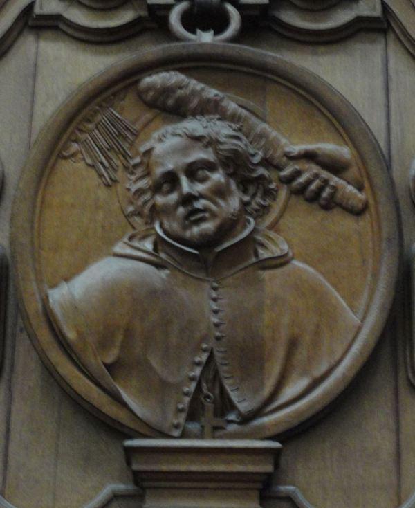 Sillería del coro. La santidad del martir. . Grimbergen. Foto R.Puig