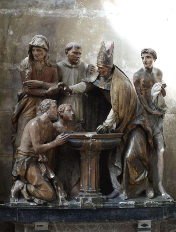 Troyes. Escultor anónimo de la capilla de las Fuentes Bautismales. Foto R.Puig