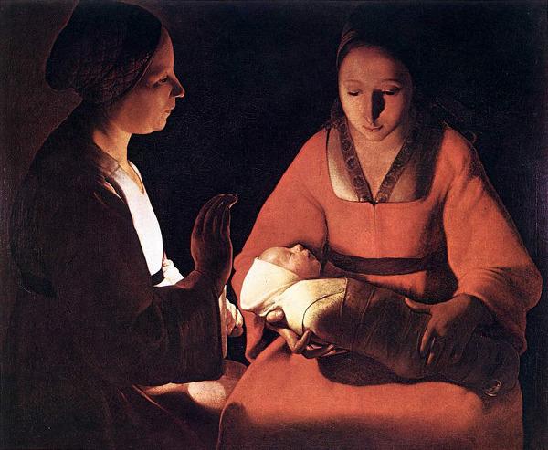 Georges de la Tour. El recién nacido.1648. Museo de Rennes