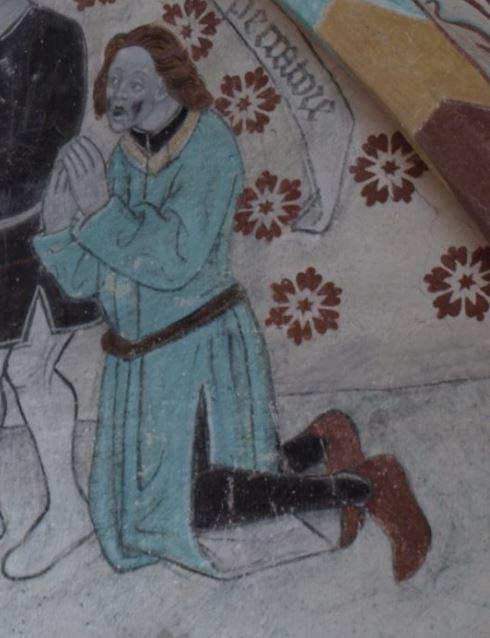 Härkeberga. Autorretrato de Albertus Pictor. Hacia 1480