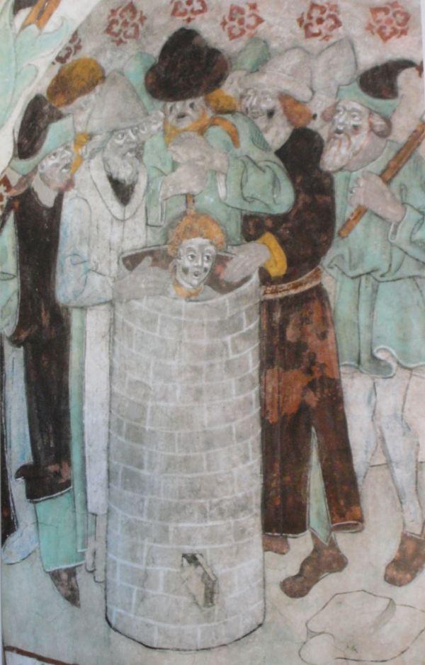 Härkeberga. José arrojado en el pozo. Albertus Pictor. Hacia 1480. Foto Tord Harlin