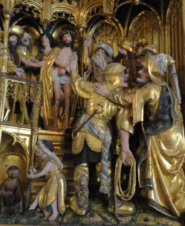 Iglesia de Veckholm. Retablo flamenco del s.XVI. Ecce Homo. Foto R.Puig