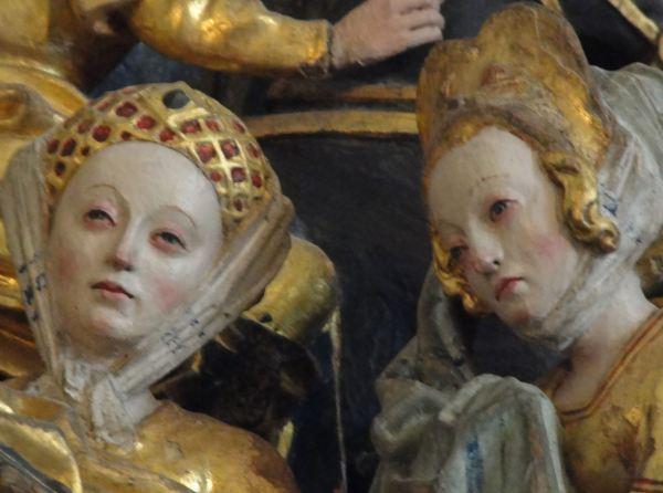 Iglesia de Vekholms. Retablo flamenco del s.XVI. Las santas mujeres. Detalle. Foto R.Puig