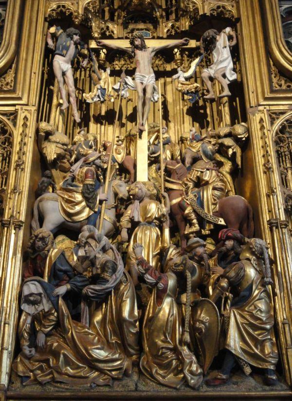 Iglesia de Vilberga. Crucifixión. Retablo flamenco del s.XVI. Foto R.Puig