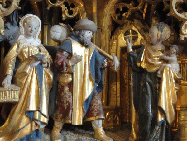 Iglesia de Vilberga. Huída a Egipto. Retablo flamenco del s.XVI. Foto R.Puig