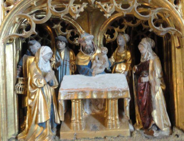 Iglesia de Vilberga.Presentación. Retablo flamenco del s.XVI. Foto R.Puig