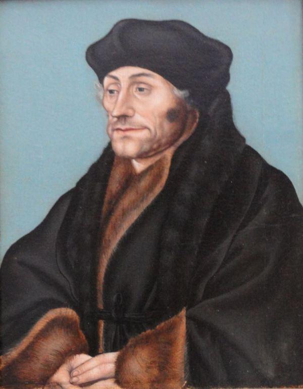 Lucas Cranach. Retrato de Erasmo entre 1530 y 1536. Museo Boijmans Van Beuningen. Foto R.Puig