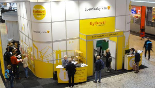 Stand electoral de la Iglesia Sueca en Gotemburgo. Foto R.Puig