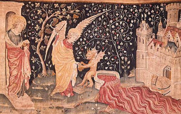 Tapicería del Apocalipsis de Jean de Bruges. s.XIV. Detalle