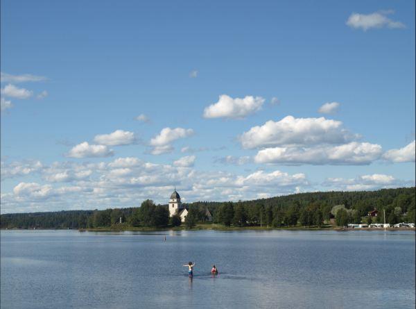 El lago Siljan en Rättvik