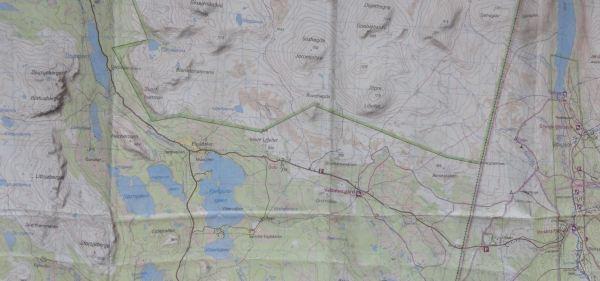 El mapa de dos días de vandring. Foto R.Puig