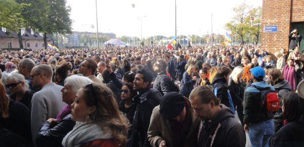 Gotemburgo 30 de setiembre 2017. Miles contra el racismo y la intolerancia. Foto R.Puig