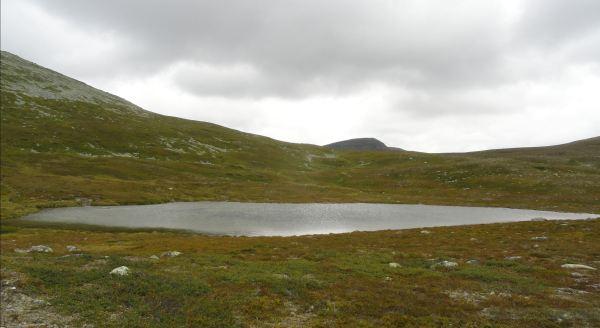 Laguna a los pies del Sushøgda. Foto R.Puig
