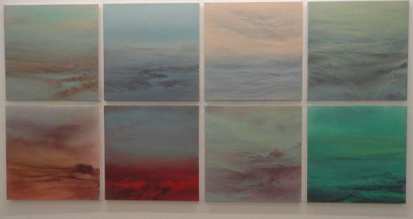 Luís Coquenão. Acrílico sobre lienzo. Instalación de 10 obras. Galería Fdez.Braso 2017. Foto R.Puig