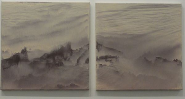 Luís Coquenão. Acrílico sobre lienzo. Serie 2. Detalle. Galería Fdez.Braso 2017. Foto R.Puig