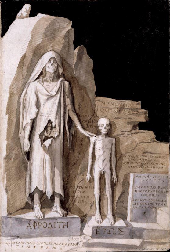 Francisco d Holanda. De Aetatibus Mundi Imagines. Afrodita y Eros. BNE Madrid