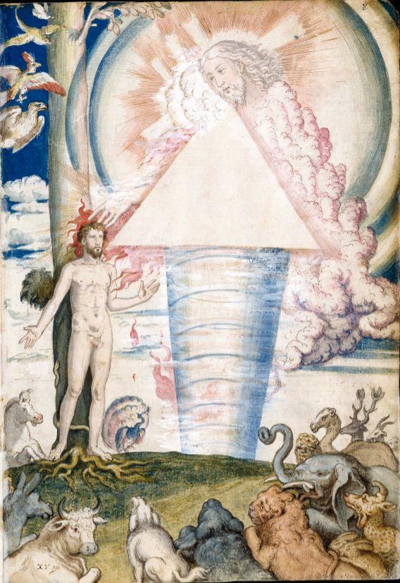 "Francisco de Holanda. De Aetatibus Mundi Imagines. ""Faciamus hominem "". Manuscrito de la Biblioteca Nacional de Madrid"