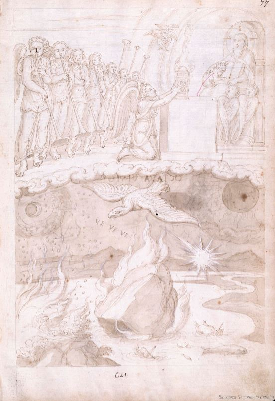 Francisco de Holanda. De Aetatibus Mundi Imagines.Visión séptima. BNE Madrid