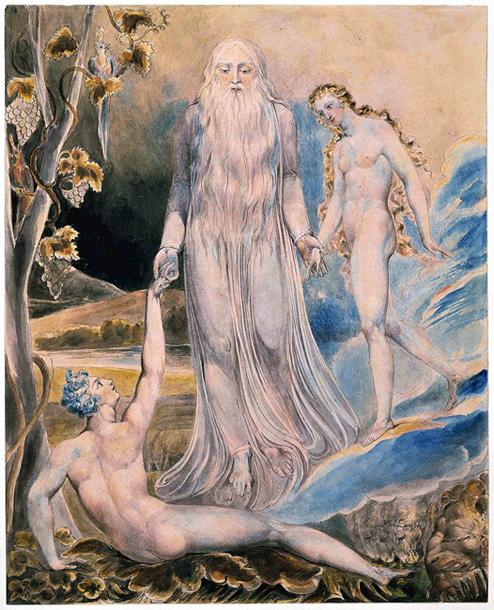 William Blake. La creación de Eva. Metropolitan Museim. N.Y.