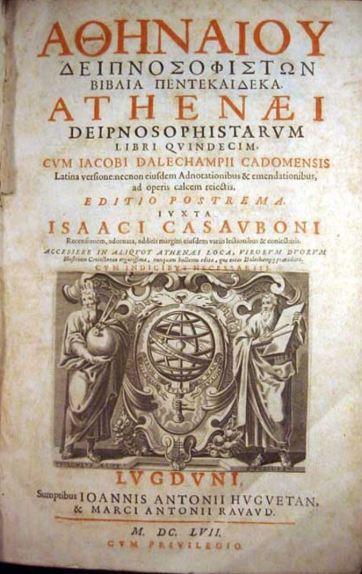 Edición de los Deipnosophistae. Leiden 1657