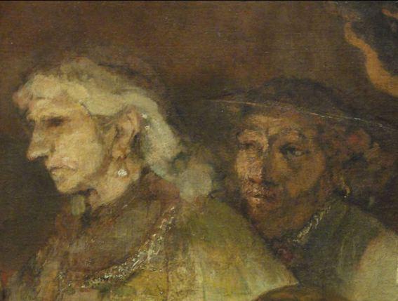 Rembrandt. La conspiración de los bátavos. Detalle. Foto R.Puig