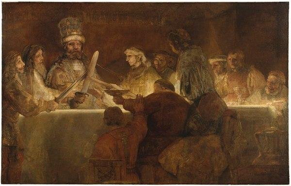Rembrandt. La conspiración de los bátavos. Museo Nacional de Estocolmo