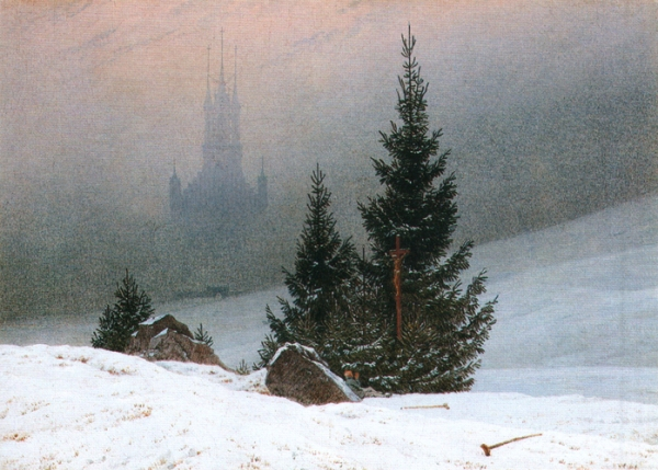 Paisaje de invierno. Caspar David Friedrich