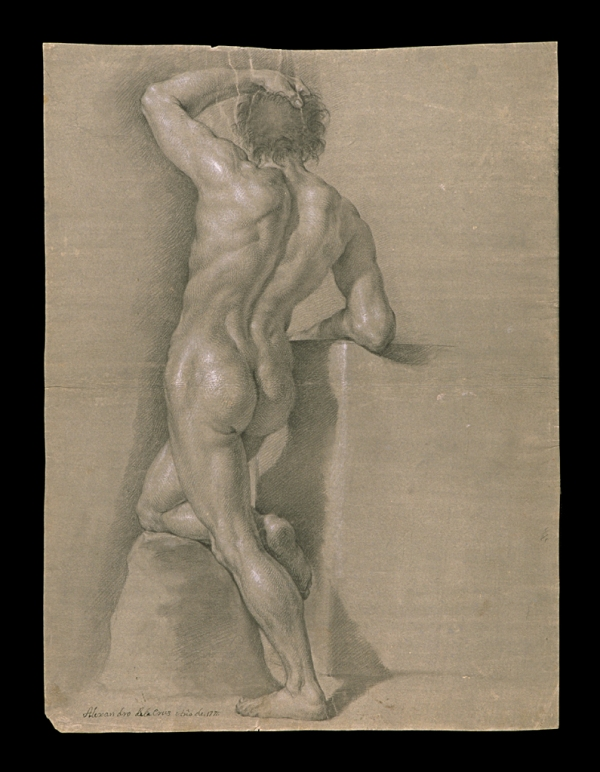 Alejandro de la Cruz Desnudo con piedra 1771