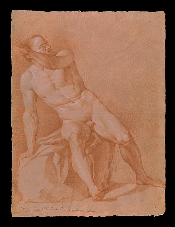 Antonio Martinez Desnudo con piedra 1799 a Roma