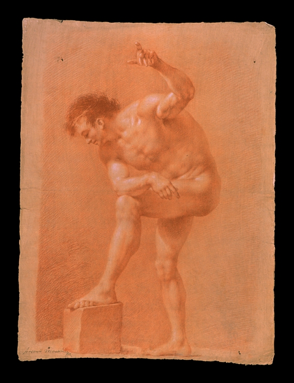 Antonio Martinez Desnudo con piedra s.f.