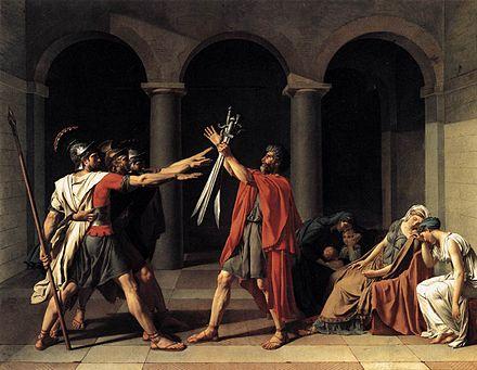 El juramento de los Horacios, Jacques-Louis David.1784