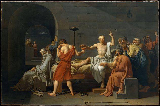 Jacques-Louis David. La muerte de Socrates. 1787