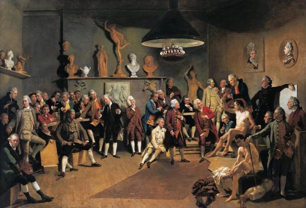 Johan Zoffany. Los académicos de la Royal Academy 1771-1772. Colección Real. Londres