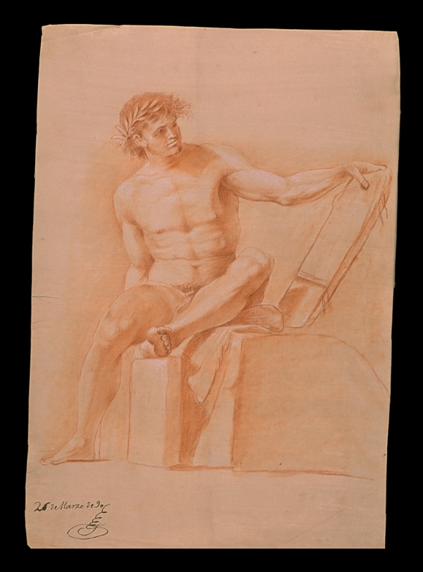 Luis Rascón Desnudo con piedras 1790