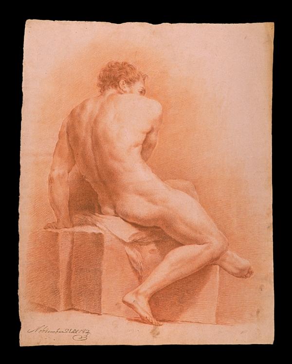 Pedro Carmona Lezcano. Desnudo con piedras 1782
