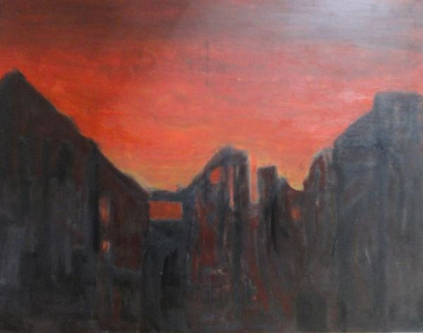 El mundo del fuego. óleo sobre lienzo. Ramón Puig 2014