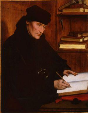 Erasmo de Rotterdam en 1517 por Quentin Metsys. Palacio Barberini. Roma