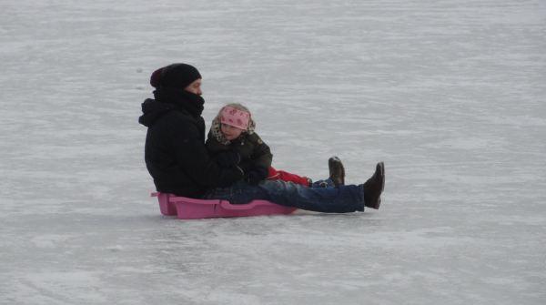 Con papá en Delsjön. Foto R.Puig